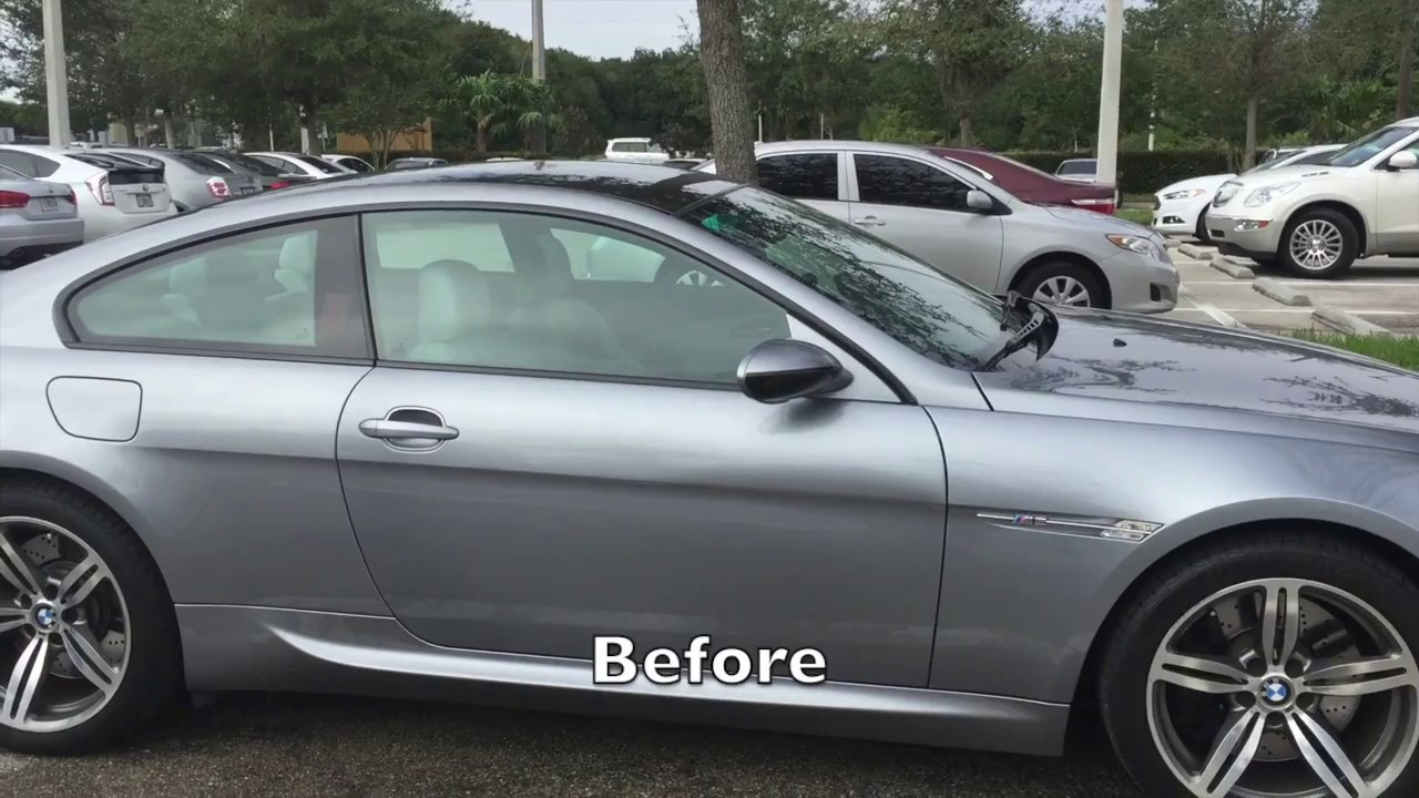 Bmw M6 30 Tint Before And After Youtube