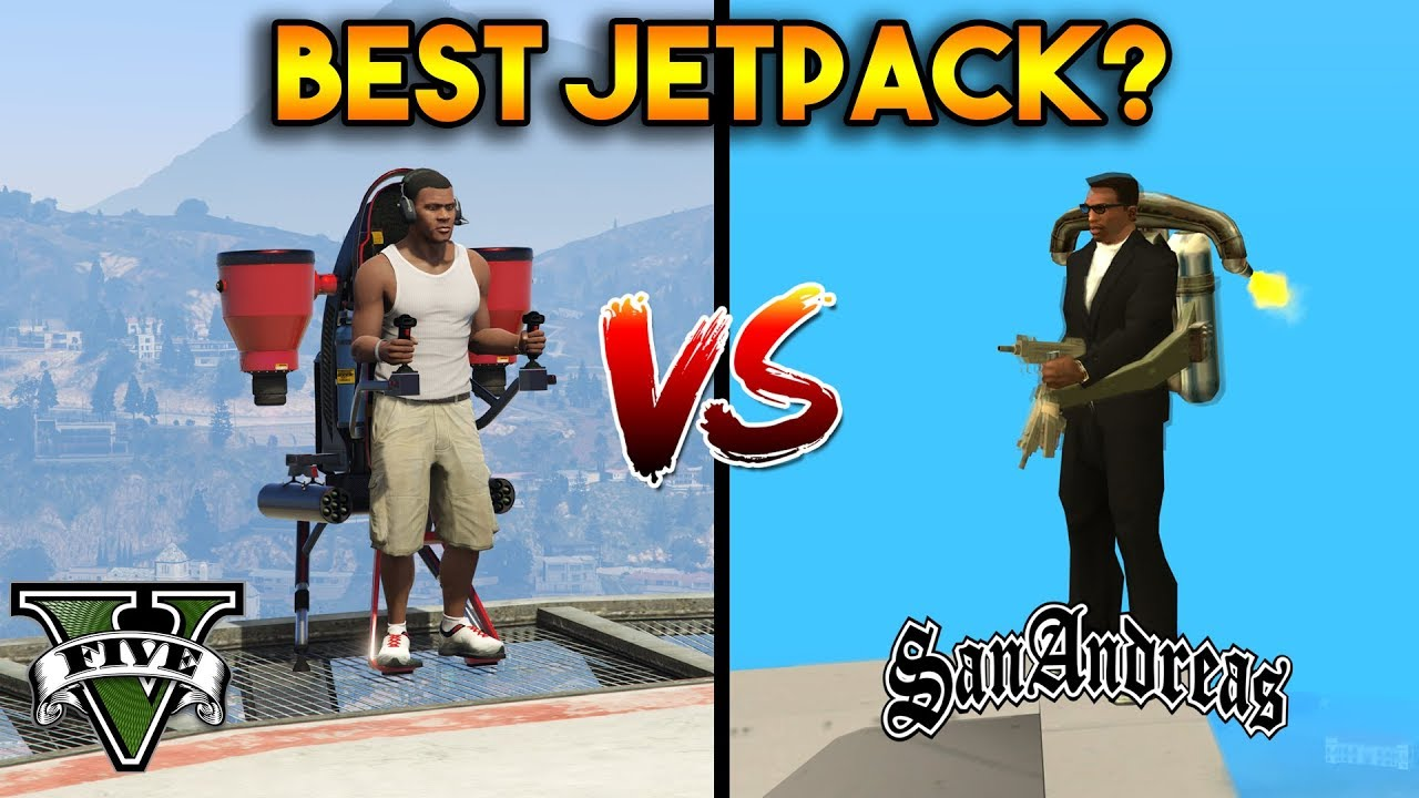 BEST JETPACK? (GTA 5 VS GTA SAN ANDREAS)