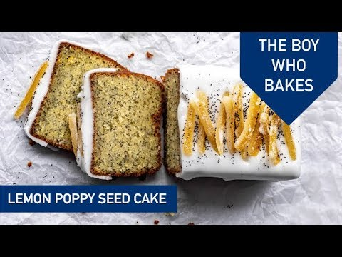 Almond Paste Lemon Poppy Cake- The Boy Who Bakes