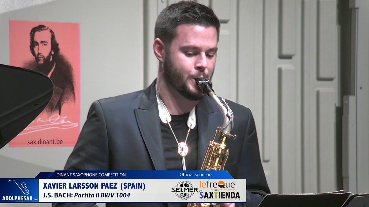 Xavier Larsson Paez (Spain) - Partita II by J.S.Bach (Dinant 2019)