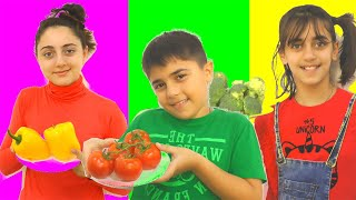 Vegetable Color Song By Guka Family Show