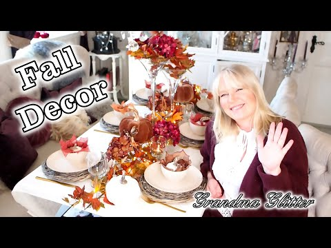 Fall decor - Fall table scape and the dining room decor