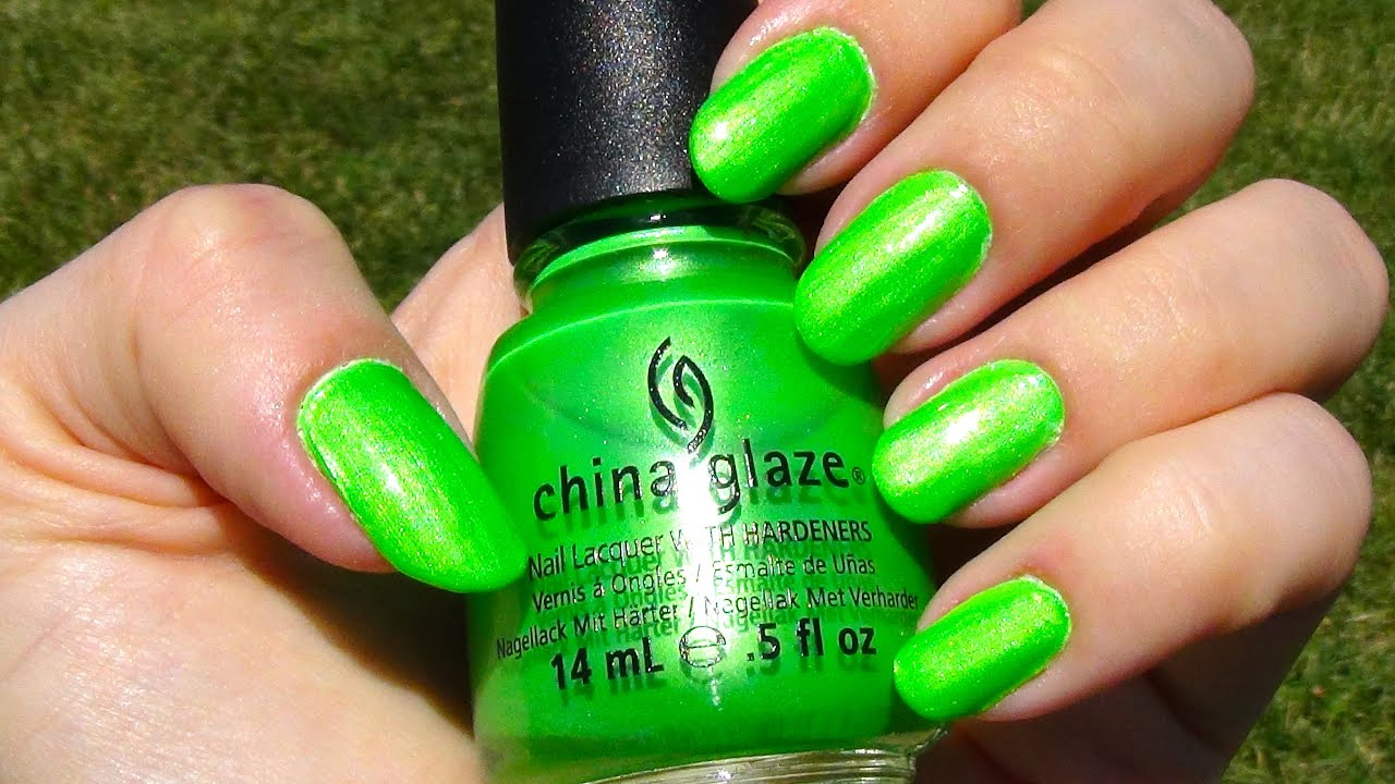 China Glaze Im With The Lifeguard Neon Nail Polish