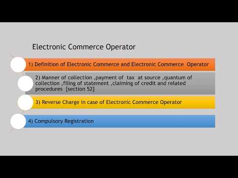 GST- Concept of Electronic Commerce Operator in GST Act,2017 by CA Somil Bhansali