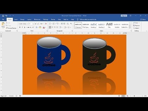 How To Draw Coffee Mug Easy With MS Word | KB Tech