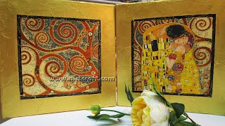Decoupage on Canvas Art Klimt DIY