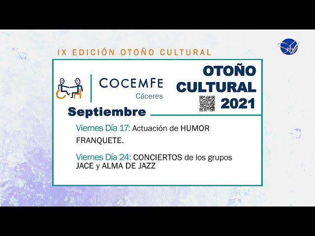 COCEMFE Cáceres. Otoño Cultural 2021 - Franquete