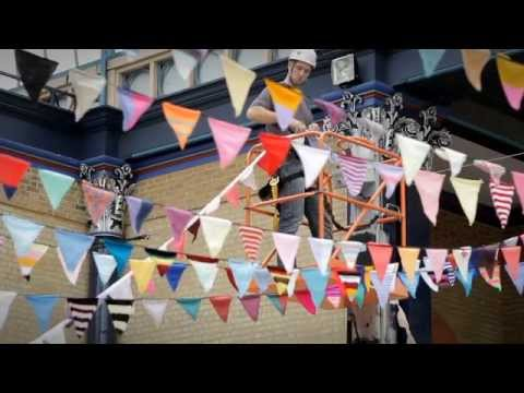 Woman's Weekly bunting world record attempt