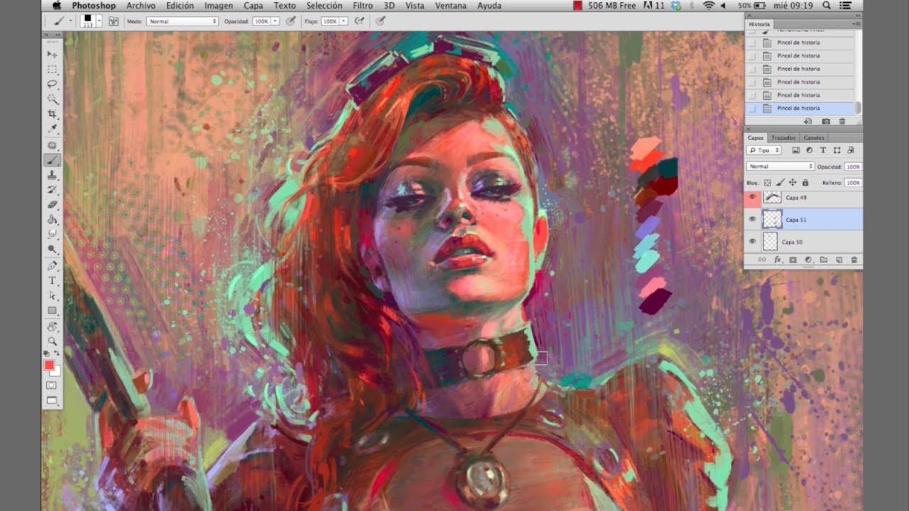 Modern Steampunk Female Digital Art