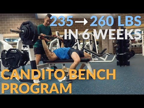 25 LB BENCH INCREASE IN 6 WEEKS - Candito Bench Program FULL OVERVIEW