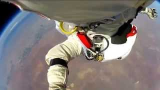 Felix Baumgartner - POV footage 128K ft space jump video by Red Bull