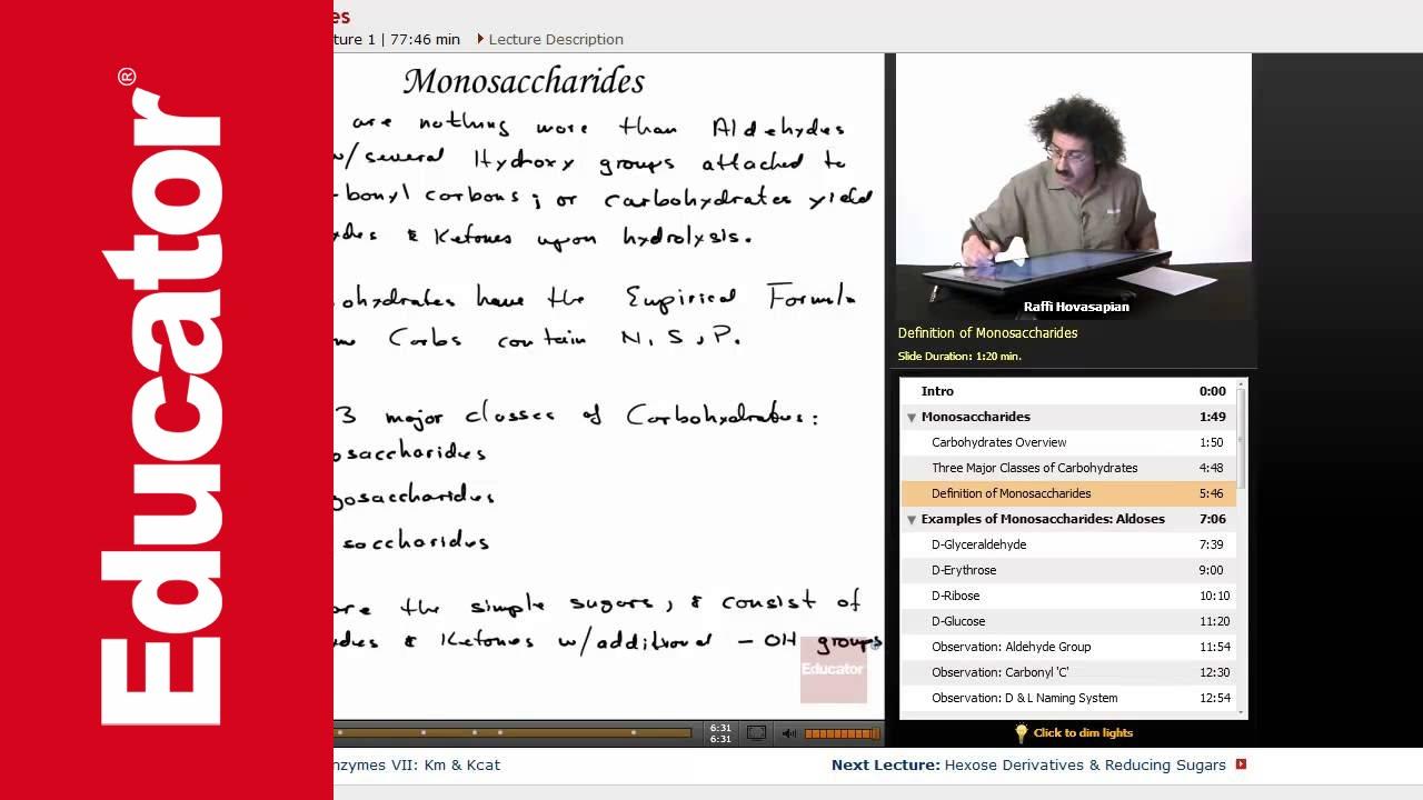 Examples Of Monosaccharides Aldoses Biochemistry Tutorial Youtube
