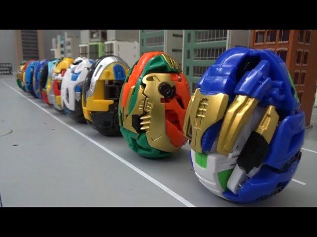 헬로카봇 쿵 10대 알 공룡 로봇 변신 장난감 놀이 Hello Carbot Kung 10 Eggs Dinosaur Robot Transformation Toys Play