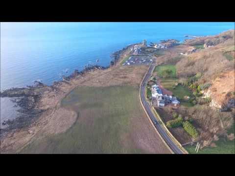Portencross Scotland by Drone 2017