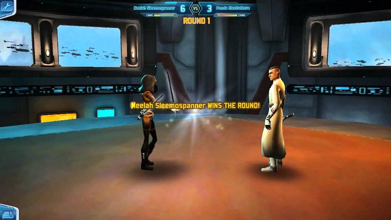 Star Wars Clone Wars Adventures - Lightsaber Duel - YouTube