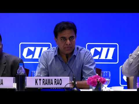 Minister KTR at CII interactive session
