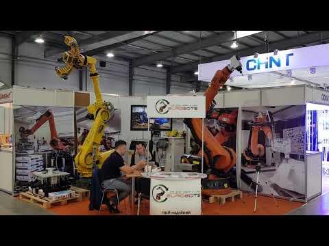Eurobots exhibiting in robot automation fair