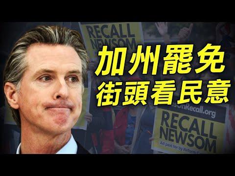 州长罢免选举 加州各族裔街头表民意