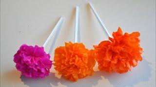 Kwiaty Z Bibuly Krok Po Kroku Diy Szybko Latwo I Efektownie Youtube