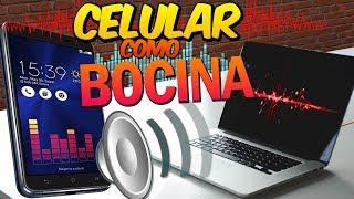 Convierte tu CELULAR en Altavoz  POTENTE para  PC / Sonido de CALIDAD 👌