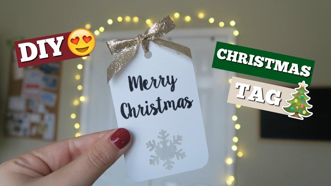 Diy Christmas Tag Cricut Project