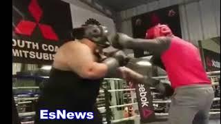 ((NO FEAR!!!)) Mikey Garcia (135 Champ) Sparring 330 Pound Giant Big Boy EsNews Boxing