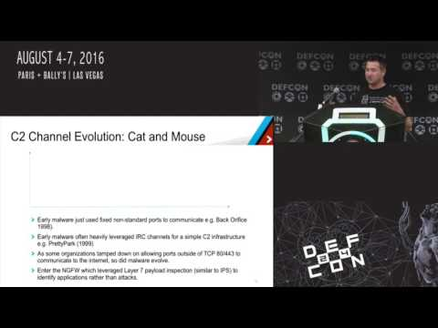DEF CON 24 - Brad Woodberg - Malware Command and Control Channels: A journey into darkness