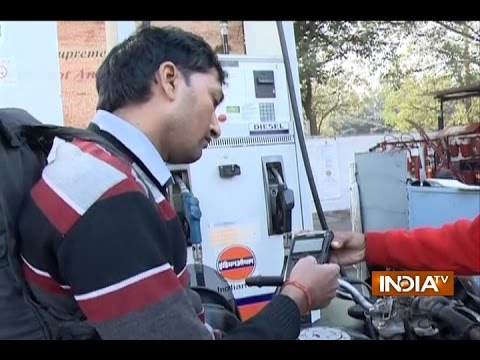 Watch: People using Cards at Petrol Pumps in Delhi