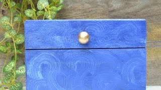 How To Make A Faux Malachite Recipe Box - Diy Home Tutorial - Guidecentral