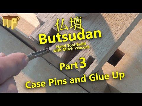 Butsudan Build Part 3 - Dovetail Pins & Case Glue Up