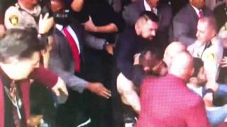 McGregor bs Khabib Results and Crowd Brawl
