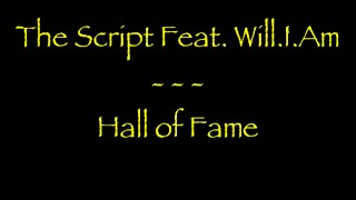 Lyrics traduction française -  The Script Feat. Will.I.Am : Hall of Fame
