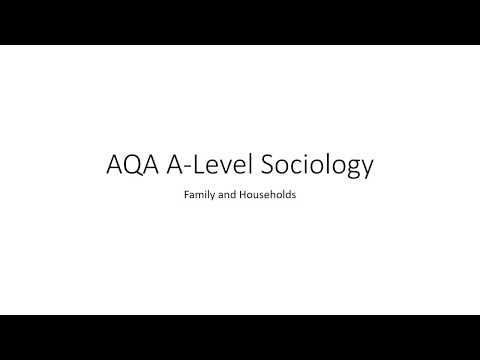 AQA A-Level Sociology Family And Households Revision