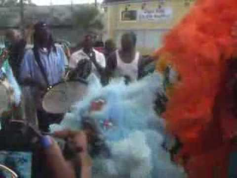 MARDI GRAS INDIANS At COMMUNITY BOOK CENTER For SPY BOY YEARBOOK SIGNING