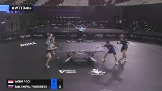Wong / Goi vs Tailakova / Vorobeva | WTT Star Contender Doha 2021 | WD | R16