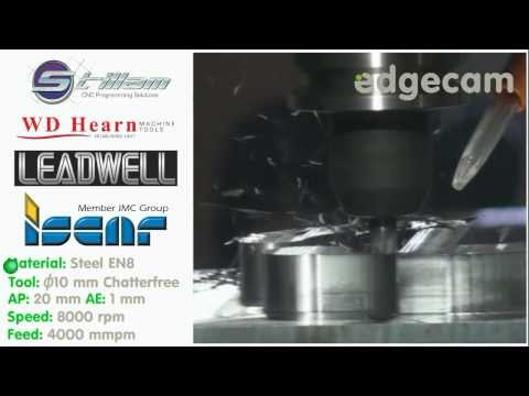 Edgecam Waveform Roughing with WD Hearn Machine Tools and ISCAR tooling