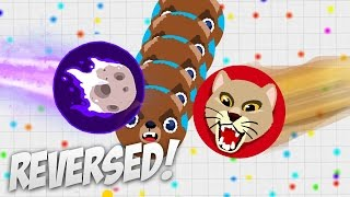 Agar io - REVERSE TRICKSPLITS IN ONE SERVER! // DOUBLE SIDED BAIT (SOLO + TEAM GAMEPLAY)