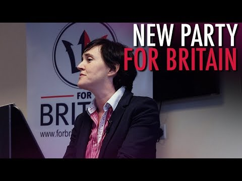 """Tommy Robinson: Anne Marie Waters Launches """"For Britain"""" Party"""
