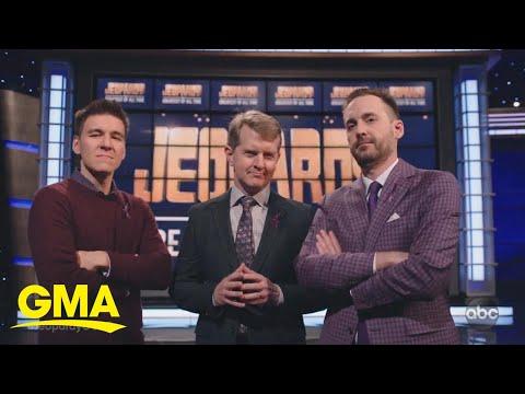 3 'Jeopardy!' greats sit down ahead of showdown l GMA
