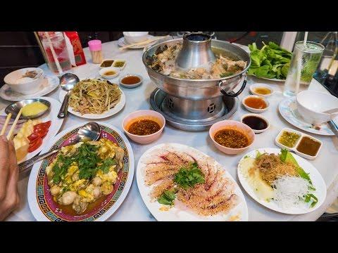 Teochew Chinese Food in Bangkok - CHINESE SASHIMI and Fish Steamboat! | อาหารแต้จิ๋ว ร้านตั้งจั้วหลี