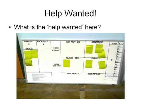Help Wanted: Using Visual Management to Drive Continuous Improvement (Webinar) 4/11/14
