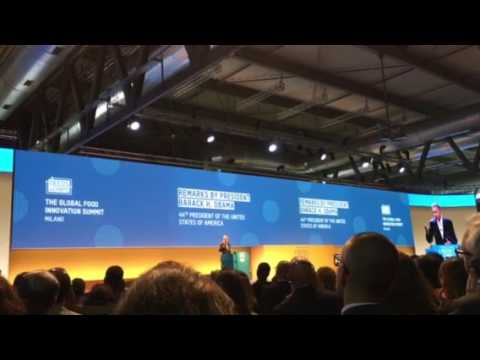 Obama at TuttoFood 2017: Climate change is already causing shrinking food yields, higher prices