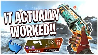 The Mozambique + Peacekeeper Combo!! (Apex Legends PS4)