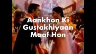 Aankhon Ki Gustakhiyaan-Karaoke & Lyrics-Hum Dil De Chuke Sanam