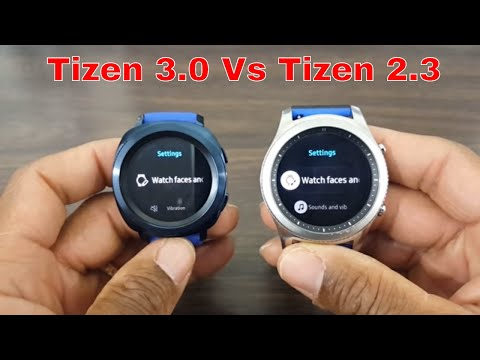 Gear Sport Tizen 3.0 vs Gear S3 Tizen 2.3 Settings Review & Comparison