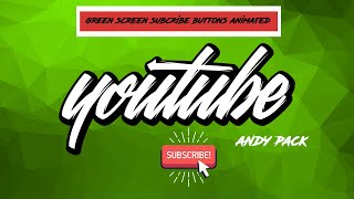 NEW 2020 TOP 15 GREEN SCREEN ANIMATED SUBSCRIBE BUTTON | Andy pack | FREE TO USE