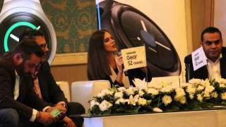 فيديو.. سامسونج تستعين بحازم إمام ولارا اسكندر للترويج لساعة Gear S2 في مصر