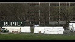 Live from NYC as emergency hospital is set up in Central Park
