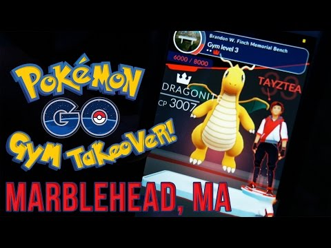 Pokemon GO GYM TAKEOVER! Episode 1 - Battles in Marblehead, MA