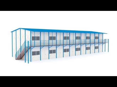 cheap low cost china prefabricated K house labour camp installation